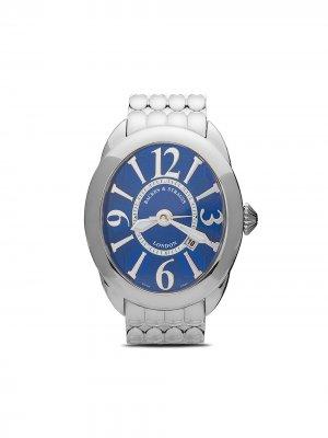 Наручные часы Regent Steel 4452 52 мм с бриллиантами Backes & Strauss. Цвет: голубой
