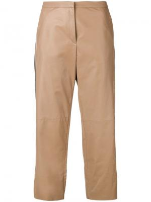 Side band leather trousers Drome. Цвет: neutrals