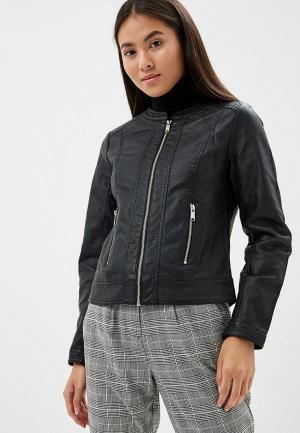 Куртка кожаная b.young. Цвет: черный