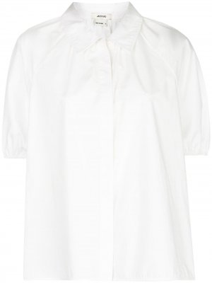 Рубашка с объемными короткими рукавами Jason Wu. Цвет: белый