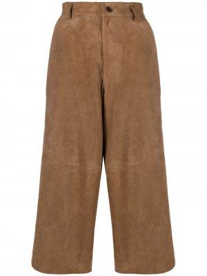 Укороченные брюки P.A.R.O.S.H.. Цвет: коричневый