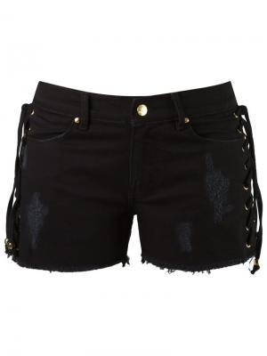 Джинсовые шорты Amapô. Цвет: черный