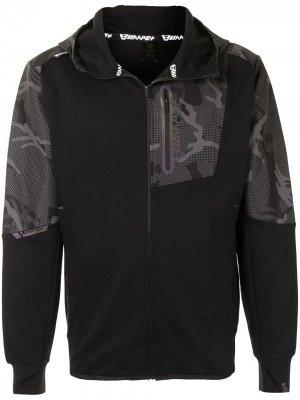 Куртка на молнии с камуфляжными вставками AAPE BY *A BATHING APE®. Цвет: черный