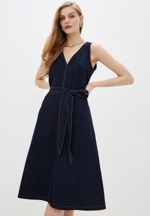 Платье French Connection. Цвет: синий