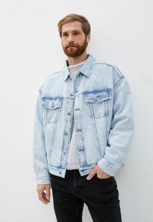 Куртка джинсовая AllSaints. Цвет: голубой
