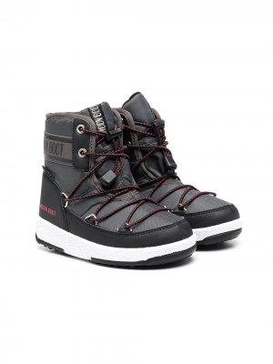 Зимние сапоги Moon Boot Kids. Цвет: черный