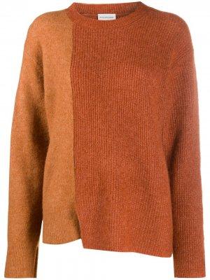 Джемпер в стиле колор-блок By Malene Birger. Цвет: коричневый