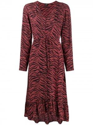 Платье Jade с кулиской Rails. Цвет: красный