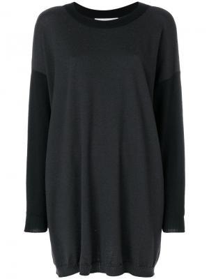 Вязаный свитер оверсайз Jc De Castelbajac Vintage. Цвет: черный