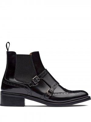 Churchs ботинки челси Stella с брогированием Church's. Цвет: черный