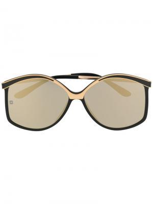 Солнцезащитные очки структурной формы Elie Saab. Цвет: черный