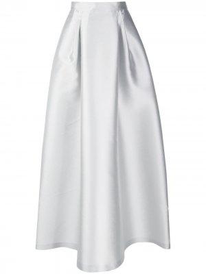 Пышная юбка с завышенной талией Alberta Ferretti. Цвет: серый