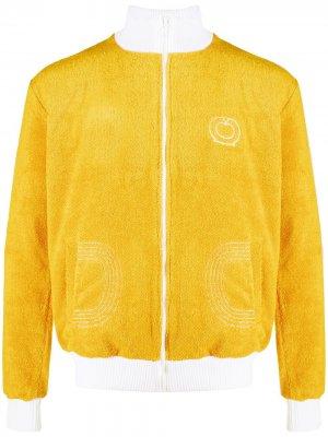 Фактурная спортивная куртка Casablanca. Цвет: желтый