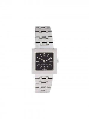 Наручные часы Quadrato 22 мм 2000-го года BVLGARI. Цвет: черный