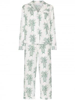 Пижама Howie с принтом Desmond & Dempsey. Цвет: белый