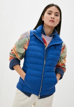Жилет утепленный Polo Ralph Lauren. Цвет: синий