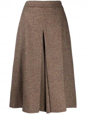 Юбка-шорты со складками TWINSET. Цвет: коричневый
