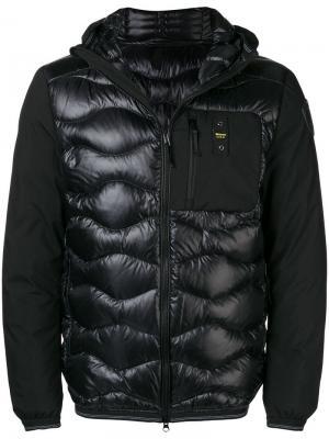 Zipped down padded jacket Blauer. Цвет: черный