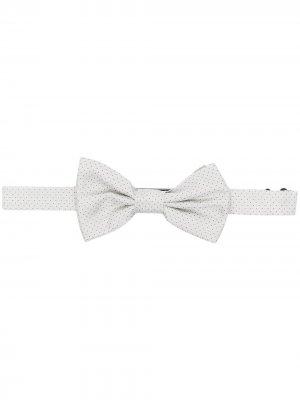 Жаккардовый галстук-бабочка в мелкую точку Lady Anne. Цвет: нейтральные цвета
