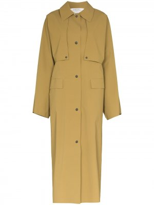 Пальто на пуговицах KASSL Editions. Цвет: коричневый