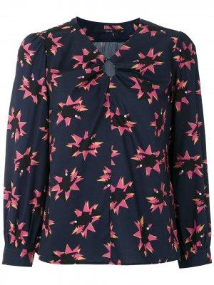 Блузка Peixe с принтом Eva. Цвет: синий