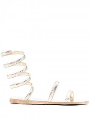 Сандалии Ofis с ремешками Ancient Greek Sandals. Цвет: золотистый