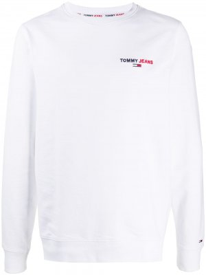 Толстовка с логотипом Tommy Jeans. Цвет: белый