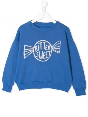 Bitter Sweet print sweatshirt Bobo Choses. Цвет: синий