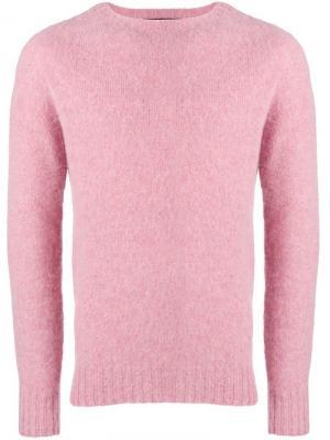 Crew neck sweater Howlin'. Цвет: розовый