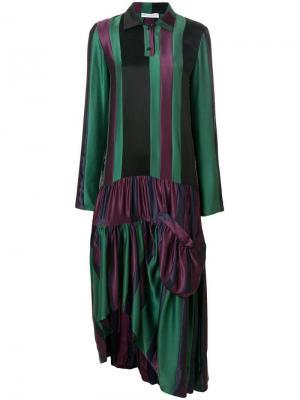 Платье с заниженной талией и вставками JW Anderson. Цвет: разноцветный