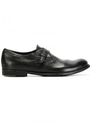 Туфли-монки с ремешком Officine Creative. Цвет: черный