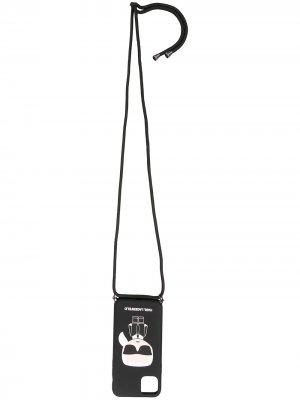 Колье K/Ikonik Karl для iPhone 11 Pro Max Lagerfeld. Цвет: черный