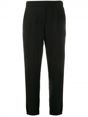 Строгие брюки кроя слим P.A.R.O.S.H.. Цвет: черный