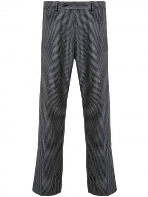 Расклешенные брюки в ломаную клетку Ports V. Цвет: серый
