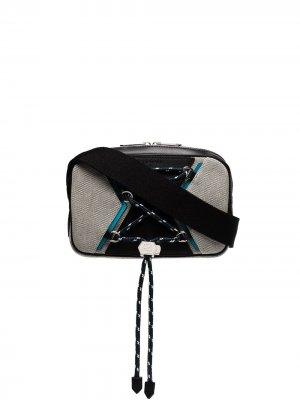 Поясная сумка Bond со шнуровкой Givenchy. Цвет: черный