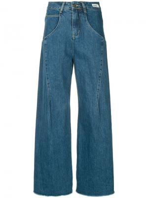 Широкие джинсы Ground Zero. Цвет: синий