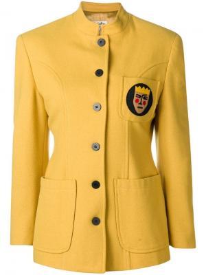Облегающая куртка Jc De Castelbajac Vintage. Цвет: желтый