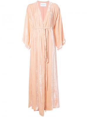 Бархатное длинное пальто Vionnet. Цвет: розовый и фиолетовый