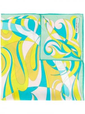 Шейный платок с принтом логотипа Emilio Pucci. Цвет: зеленый