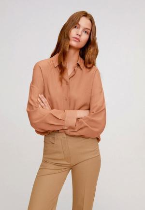 Рубашка Mango. Цвет: коричневый