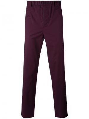 Прямые брюки Lucio Vanotti. Цвет: розовый и фиолетовый