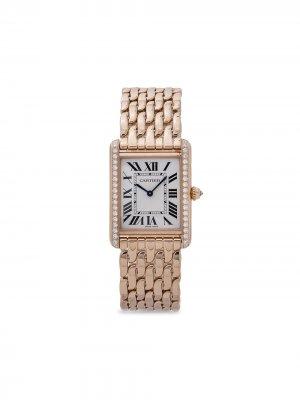 Наручные часы Tank Louis pre-owned 25 мм 2019-го года Cartier. Цвет: серебристый