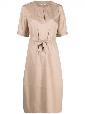 Платье-рубашка с завязками Peserico. Цвет: нейтральные цвета