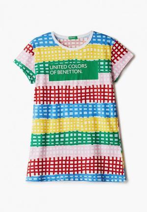 Футболка United Colors of Benetton. Цвет: разноцветный