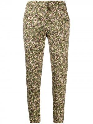 Укороченные брюки с цветочным принтом Luisa Cerano. Цвет: зеленый
