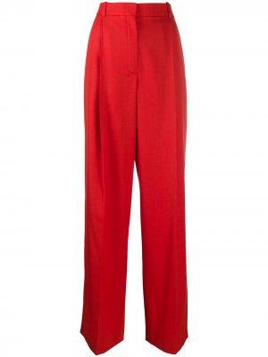 Прямые брюки с завышенной талией Nina Ricci. Цвет: красный