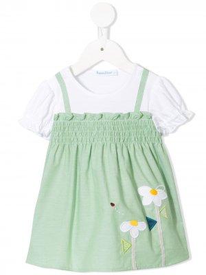 Расклешенное платье-футболка Familiar. Цвет: белый