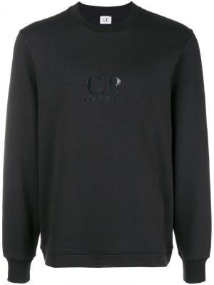 Logo sweatshirt CP Company. Цвет: черный