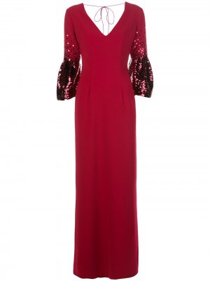 Вечернее платье Tower с пайетками Sachin & Babi. Цвет: красный