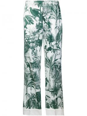 Пижамные брюки F.R.S For Restless Sleepers. Цвет: зеленый